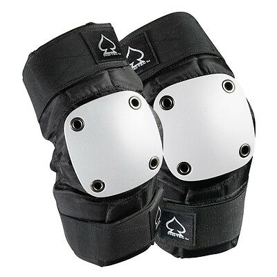 Protec PARK Skateboard ELBOW Pads BLACK/WHITE SMALL