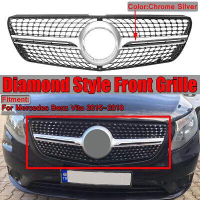 Kühlergrill Frontgrill Gitter Chrom Diamant Grill für Mercedes Vito 2015-2018
