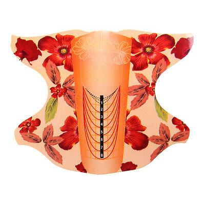 100 Stk. Modellier Schablonen Blume Mandel Form Nagelschablone für Gel Acryl