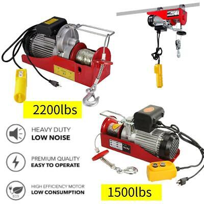 15002200 Lbs Electric Wire Hoist Winch Lifting Hanging Engine Crane Lift