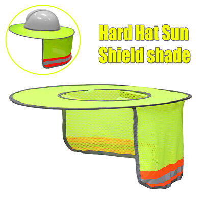 Us For Hard Hat Helmet Full Brim Summer Sun Shield Shade Neck Breathable Mesh