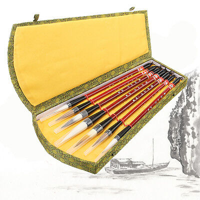 7Pcs Chinese Ink Brush Pen Traditional Calligraphy Drawing Writing  Art Painting
