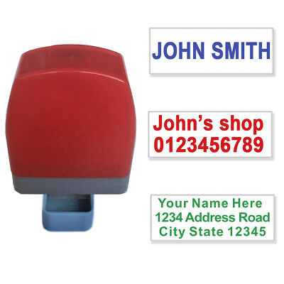 Custom Name Signature Self Inking Stamp Return Address Up To 3 Lines 32x12mm