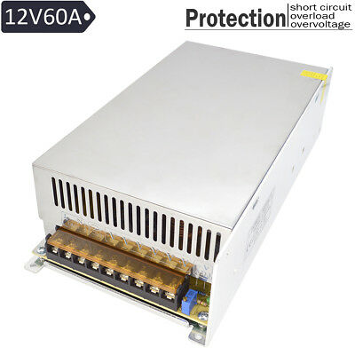 DC 12V 60A 720W Output Switching Metal Power Supply Adapter for LED Strip (Output Switching Power Supply)