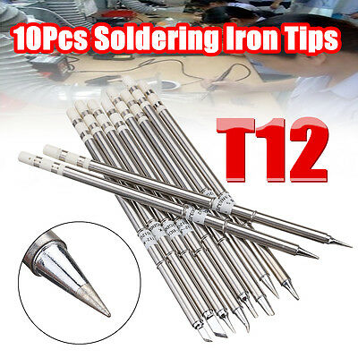 10pcs T12 Handle Series T12-k Bc2 Bl Soldering Iron Tips For Hakko Fx951 Fx952