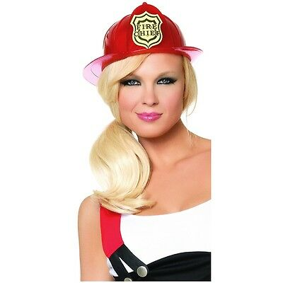 Red Fireman hat Firefighter Costume Accessory Adult Halloween Fancy Dress - Halloween Costume Red Hat