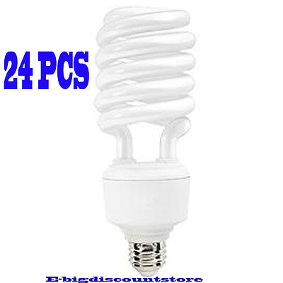 High Wattage Compact Fluorescent - Lot 24PC 40W T4 Spiral Compact Fluorescent Bulb Screw In Base High Lumen/Wattage