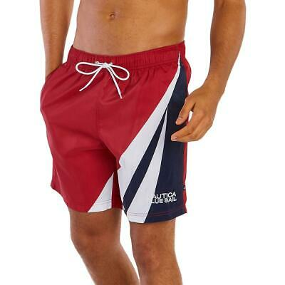 Nautica Mens Logo Beachwear Board Shorts Swim Trunks BHFO 2767
