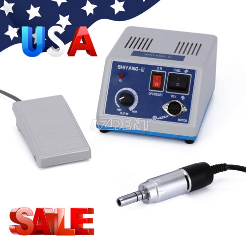 Dental Marathon Electric Micromotor Polishing 35K RPM Motor Handpiece UPS Ship