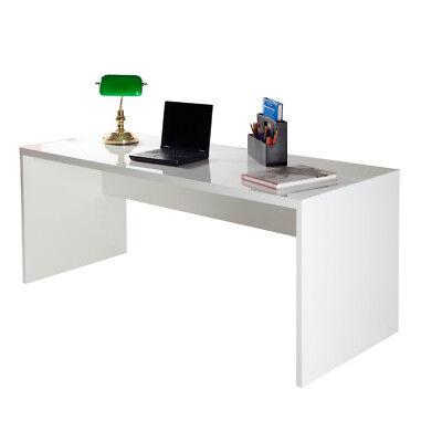 schreibtisch kronos brotisch computertisch pc tisch wei hochglanz lackiert - Computertische Fr Spieler