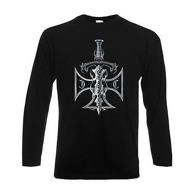 Cross Long Sleeve Shirt Schwarz (Longsleeve Choppers Sword / Cross, langarm Funshirt Biker Rocker USA (ABC00716))