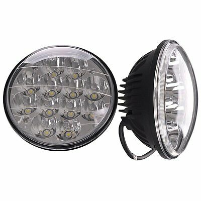 """Pair 5 3/4"""" Round CREE LED Spot Headlight Work Lamp Sealed Offroad Truck car"""