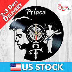 Prince Sign Vinyl Record Wall Clock Singer Art Music Home Room Decor Best Gifts