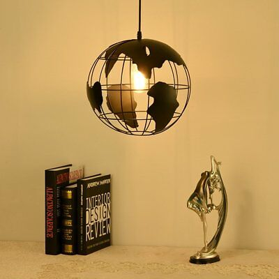 Modern World Map Pendant Ceiling Hanging Lamp Chandelier Kitchen Light Fixture