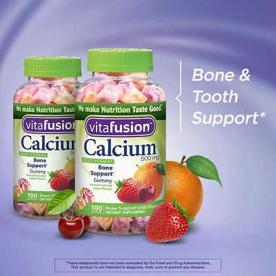 vitafusion Calcium 500 mg, Vitamin D3, Adult 200 Gummy Vitamins, 2 Bottles!!!!!!