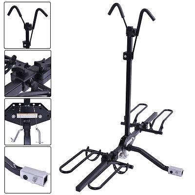 "2 Bike Carrier Platform Hitch Rack Bicycle Rider Mount Sport Fold Receiver 2"""