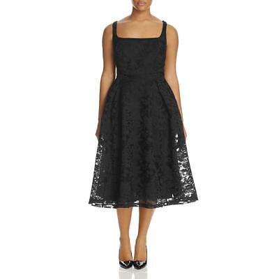 City Chic Womens Jackie O Black Lace Overlay Casual Dress Plus 16 S BHFO 7719