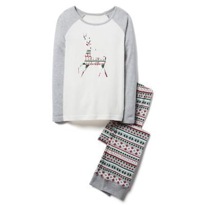NWT CRAZY 8 6 7 8 10 12 Girls Reindeer Holiday Pajamas Pjs Sleepwear - Crazy 8 Pajamas