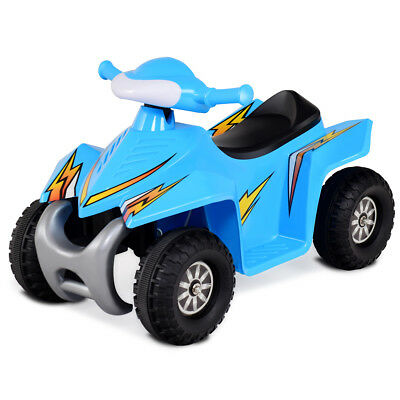 Kids Electric Car Battery Power Toddler Vehicle w/ Dashboard Radio & Light Blue