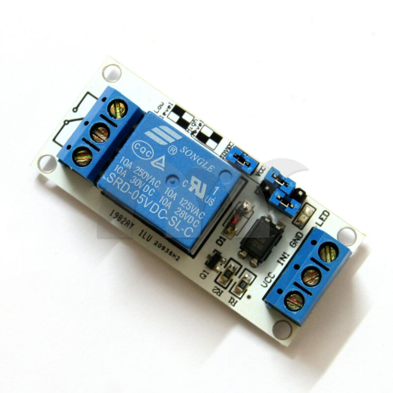 5V 1-Channel Relay Module with Optocoupler H/L Level Triger for Arduino