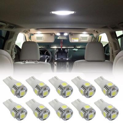 10X Car 5 SMD White LED Interior Lights T10 168 194 Bulb Wedge Side Dome Light