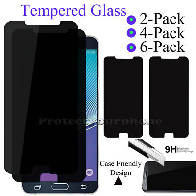 Privacy Screen Protector Tempered Glass For Samsung Galaxy Note 5 S6 S7 Edge J3