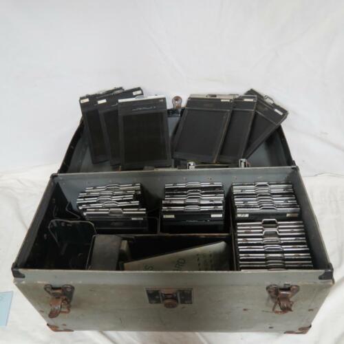 28 Vintage 4 X 6 Graflex Graphic Film Holders In Case