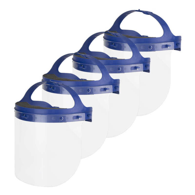 NEW Suncast Commercial Double Strap Standard Face Shield, 4 pack *FREE SHIPPING*