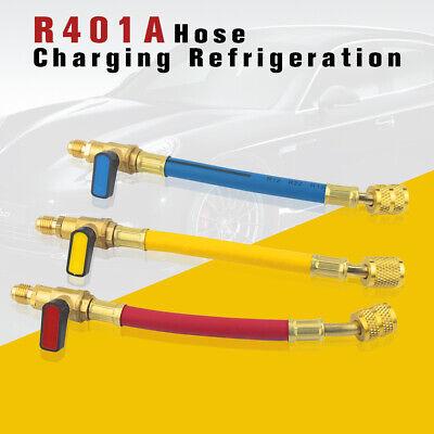 3pc Ball Valves R410a Set For Charging Refrigeration Hose Air Condition Hvac