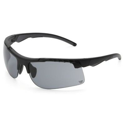 (Venture Gear Drone Tactical Safety Glasses with Gray Anti-Fog Lens, Black Frame)