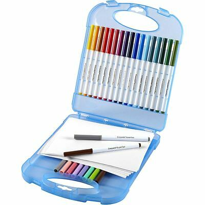 Crayola SuperTips Washable Markers And Paper Set Pens 65 Pack Drawing Colouring