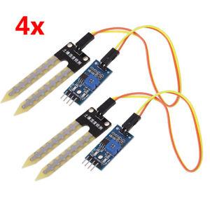 4 x Soil Sensor Moisture Hygrometer Module PCB For Arduino Pi Raspberry