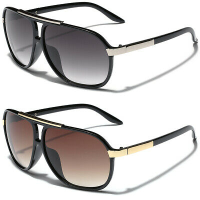 Retro 80s Fashion Aviator Sunglasses Black White Brown Men Women Vintage (Sunglasses Vintage Man)