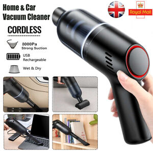 8000Pa Cordless Hand Held Vacuum Cleaner Wet&Dry Strong Suction for Home Car UK