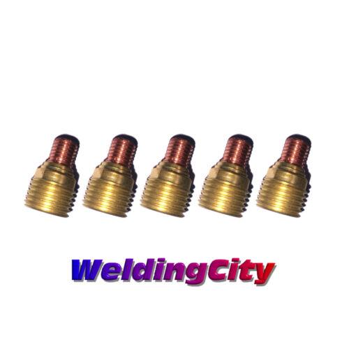 "WeldingCity 5-pk Gas Lens Collet Body 45V44 3/32"" for TIG Welding Torch 9/20/25"