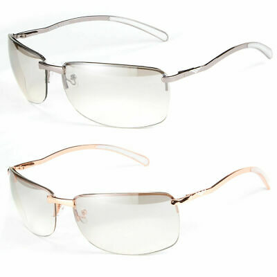 New Men Rectangular Stylish Rimless Designer Sunglasses Shades Eyewear Silver (Stylish Sunglass)