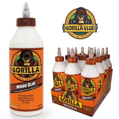 - 100% Waterproof Gorilla Wood Glue PVA Adhesive 532ml  Timber Multi-Purpose