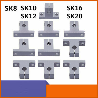 SK8/SK12/SK16/SK2 8mm/12mm/16mm/20mm Linear Rail Shaft Guide Support Bracket