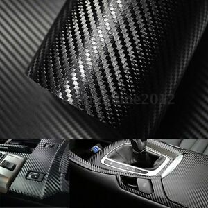3d fibre carbone film autocollant sticker vinyle adhesif voiture auto 250x30cm ebay. Black Bedroom Furniture Sets. Home Design Ideas