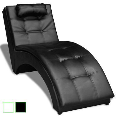 Modern Tufted Chaise Longue Sofa Indoor Chair Living Room Bedroom Black/White