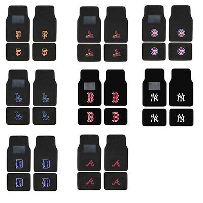 Brand New 4pc Set MLB Pick Your Team Car Truck Front Back Carpet Floor Mats Set