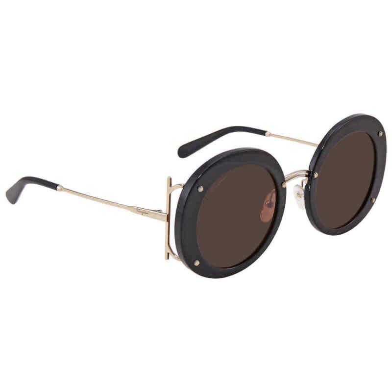 Salvatore-Ferragamo-Brown-Round-Ladies-Sunglasses-SF939S-001-52-SF939S-001-52
