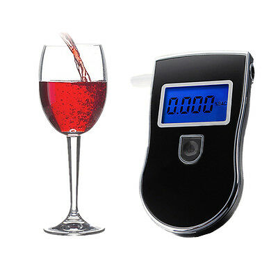 Police LCD Digital Car Breath Alcohol Analyzer Tester Breathalyzer Test Detector