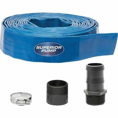 Superior Pump 1-12 In. Dia. X 25 Ft. L Lay-flat Discharge Sump Pump Hose Kit