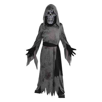 Childs Ghastly Ghoul Ghost Spirit Fancy Dress Party Halloween Costume MEDIUM NEW (Ghastly Ghoul)