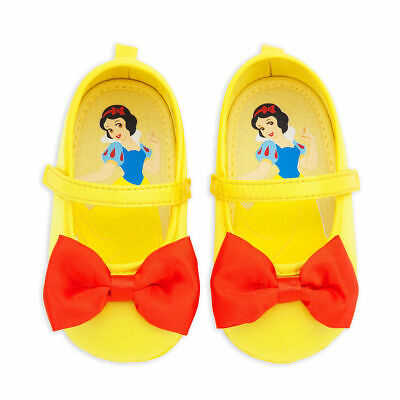 NEW Disney Store 6 12 18 24 M Snow White Baby Costume Shoes Yellow NEW