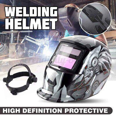 Kinso Solar Auto Darkening Welding Helmet Arc Tig Mig Mask Grinding Hood Us