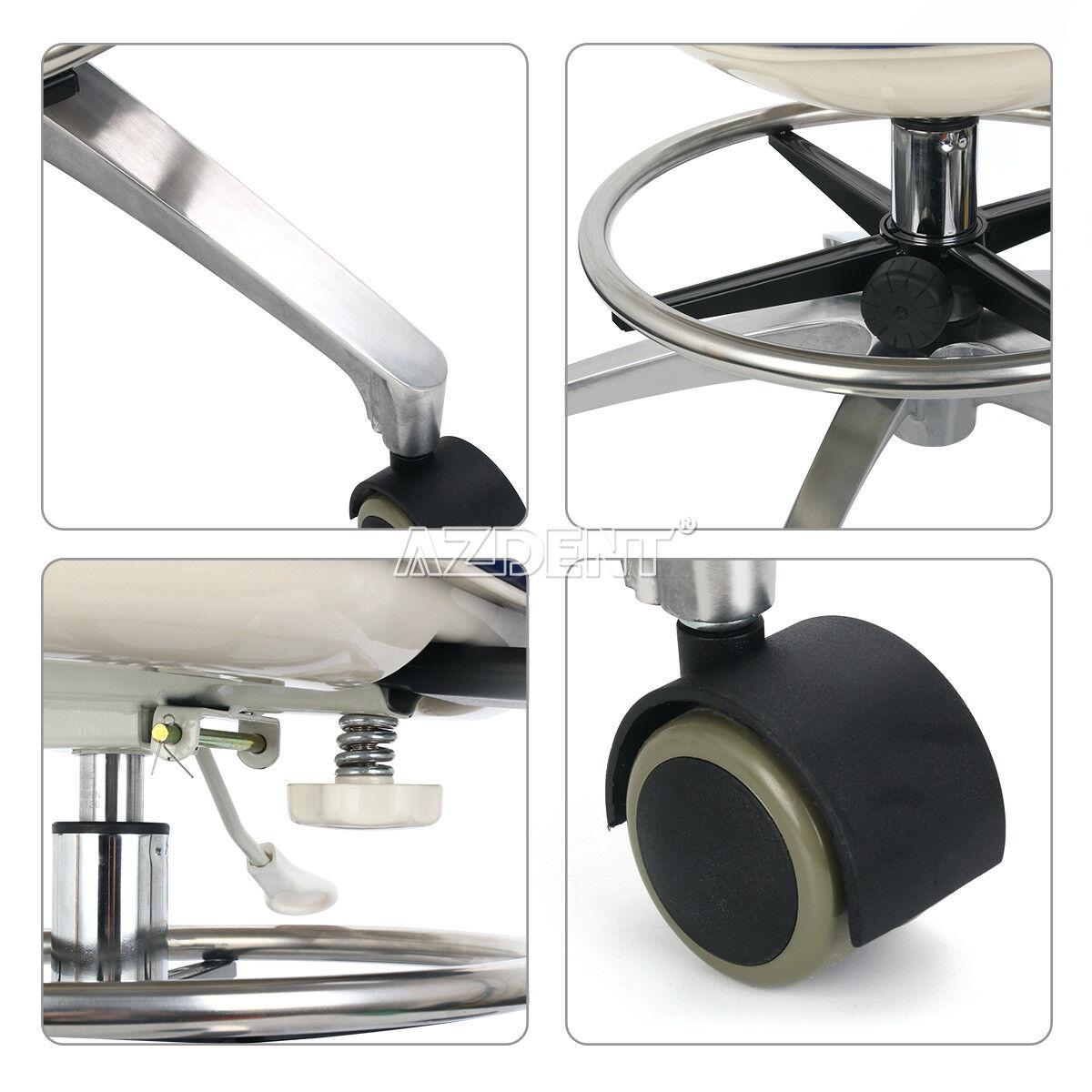 Dental Dentist Chair PU Leather Adjustable Stool Hydraulic Rolling Stool UPS - $139.99