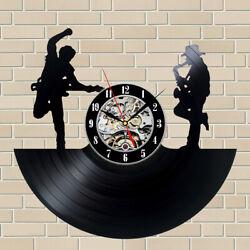 Bruce Springsteen Vinyl Record Wall Clock Art Music Laser Cut Decor Gift Sign