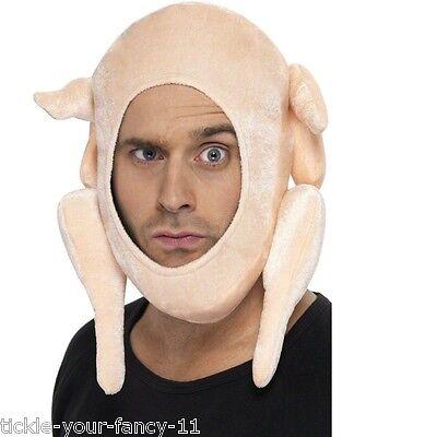 Men's Women Stuffed Turkey Christmas Hat Party Novelty Xmas Silly Joke Santa